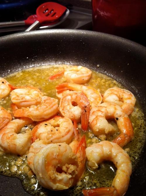 Shrimp ready to plate...