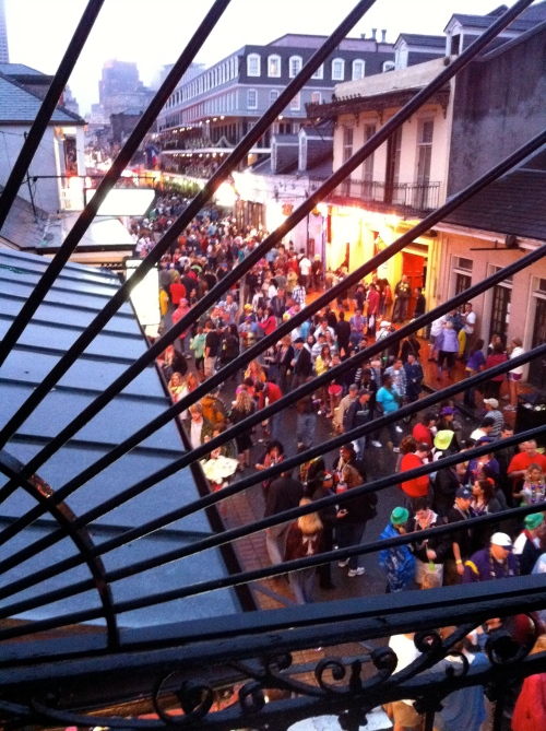Balcony over Bourbon Street