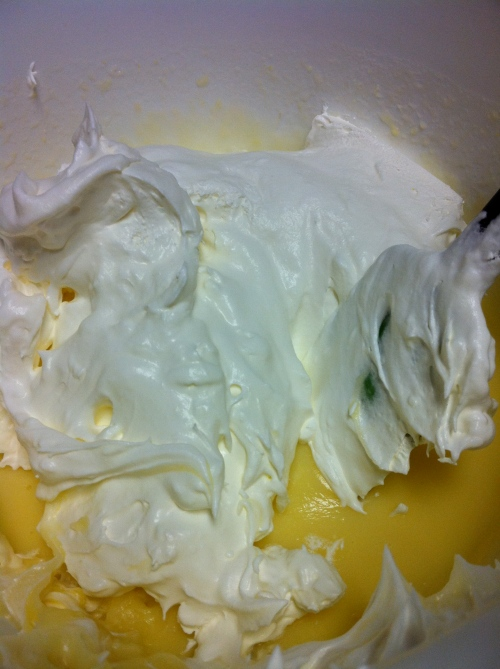 Fold Cool Whip into pudding mix