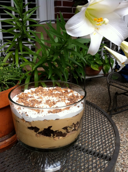 Mocha Toffee Trifle - Complete.