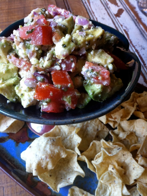 Avocado Feta Dip...just waitin' on ya to dig in...