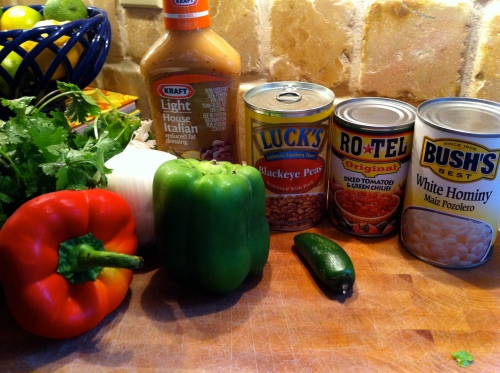 Black-Eyed Pea Dip Ingredients